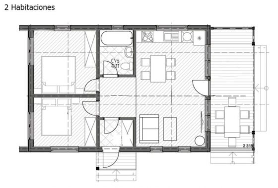 bungalow modelo texas 4