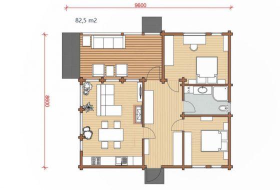 bungalow modelo Kopay 6