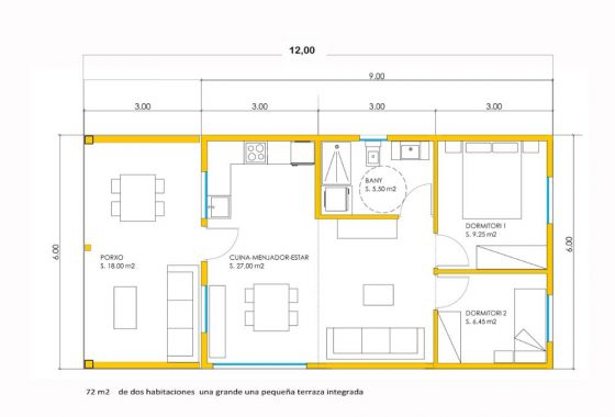 bungalow modelo fresno 4
